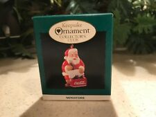 Hallmark Keepsake Ornament Club Cool Santa Coca Cola Miniature Ornament 1993