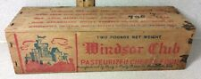 Antique Windsor Club American Cheese Wood  Dairy Food Box Manitowoc WI Grocery