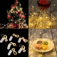 6Pcs 20 Warm White LED Battery Micro Rice Wire Copper Fairy String Lights Party