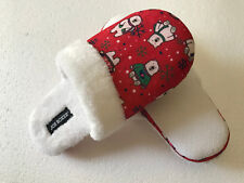 Joe Boxer Slippers Red Christmas White Polar Bear Furry Womens Size 11/12