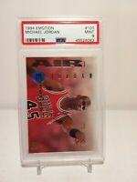 👀1994 Emotion #100 - MICHAEL JORDAN - PSA 9 Mint - Chicago BULLS 🔥(POP 340)