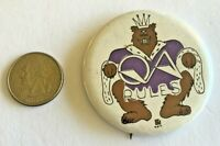 Vintage Seattle 1975 Queen Anne Highschool Grizzlies Pinback Button
