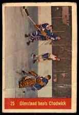 1957-58 Parkhurst Bert Olmstead/Ed Chadwick Ia #M25