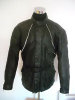 WINDTEX Motorradjacke scotchlite Bikerjacker leather motorcycle jacket vtg XXL