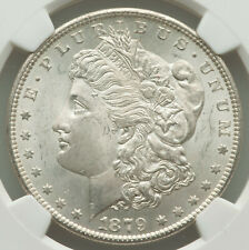 1879-S Rev of 1879 $1 Morgan Silver Dollar NGC CRISPY COLORED NEAR GEM MS64