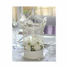 Cream Table Lantern Bird Cage Antique Style 33cm Vintage Candle Holder Tea Light