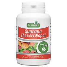 ☆☆☆ 200 comprimés dosés 570 mg - Guarana - Nopal - Thé Vert