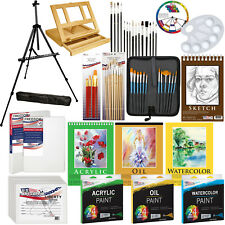 Arte Pintura Kit - 133pc conjunto de pintura de artista con caballete, lona, pintura & Cepillos