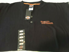NEW Men's Black HARLEY DAVIDSON Dealer Polo Shirt Embroidered Logo Lrg Lindon Ut