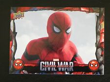 2017 UD Spider-Man Homecoming Civil War Images CW7 WALMART EXCLUSIVES