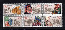 DDR 1982 postfrisch Sechserblock 2716 - 2721 ZD Sorbische Volksbräuche Trachten