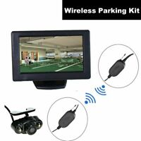 Car Auto Wireless Backup Rear View Cam 4.3 inch LCD TFT Monitor Screen Parking
