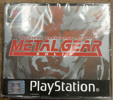 Metal Gear Solid Black Label PlayStation 1 Ps1  NEW and DISTRIBUTOR SEALED
