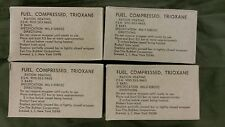 Four Genuine 1970 Dated Boxes Of US Army Trioxane Cooking Fuel 12 Bars Vietnam