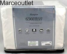 Fairfield Square Hampton 650 Thread Count Cotton 6 Piece Queen Sheet Set Ivory