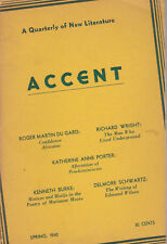 Accent: A Quarterly of New Literature Vol.2 No.3 Spring 1942 - Richard Wright &c