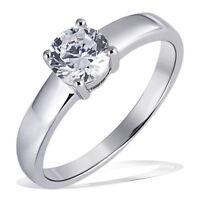 Goldmaid Ring 925 Sterlingsilber Damenring 1 grosser Zirkonia Brillantschliff