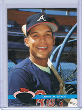 1991 Topps Stadium Club - ERROR - NO FOIL - Dave Justice Braves #26