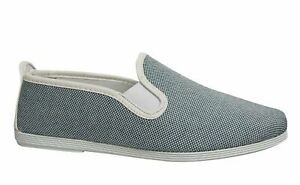 Flossy Style Marbella Mens Espadrille Slip On Plimsolls Shoes 55 240 Blue