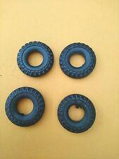 4 Gummi-Reifen für Blechspielzeug-Autos-22,5 mm