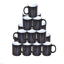 24 sublimation noir changeant couleur magique Mugs Double couche enduit 11oz