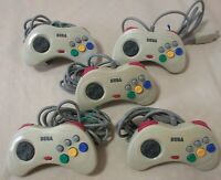 Sega Saturn 5 Controllers Tasted SS Official Pad retro authentic From Japan