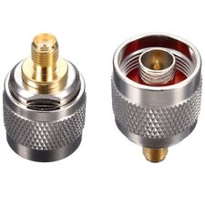 2 pcs N Type Male Plug to SMA Female Jack RF Coaxial Adapter Connector 20x30mm