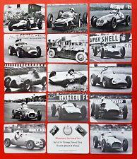NEW Set of 14 Mini Postcards Vintage Grand Prix Greats in Black & White