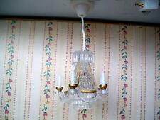 1:12 - Puppenhas  Deckenlampe / Kerzenleuchter - 12/13,5 Volt