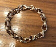 "Rose Gold Tone Bronze Milor Italy Chain Link Bracelet 8"""