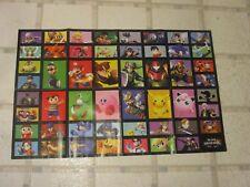Super Smash Bros. Nintendo 3DS Wii U Promo Foldable Poster Mario Link Kirby Ness