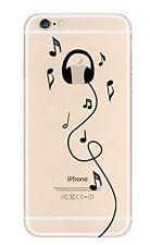 Coque gel souple incassable motif fantaisie pour iPhone 6  ( Casque )