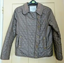 John Rocha quilted jacket in dark taupe colour- size 12