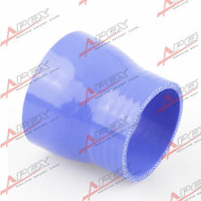 "3 Ply 3.5"" To 2.5'' Inch Straight Reducer 76.2mm Silicone Hose Coupler Pipe Blue"