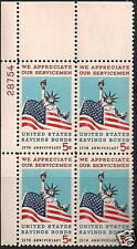 Scotts #1320  5c  SAVINGS BONDS  Plate Block, MNH