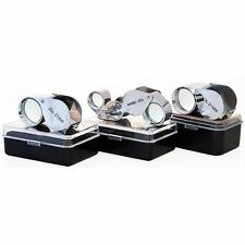 3pc Jewelry Eye Optical Loupe Set 10x 30x + Dual Magnifier Magnifying Glass Lens