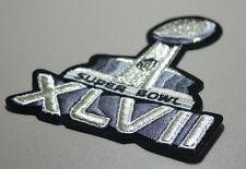SUPER BOWL XLVII SB 47 CHAMPION RAVENS JERSEY INSIGNIA: METALLIC SHINE SILVER