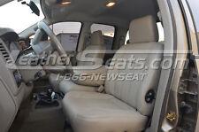 2006 - 2008 Dodge Ram Quad Cab Leather Seat Upholstery Covers Khaki Slate 07