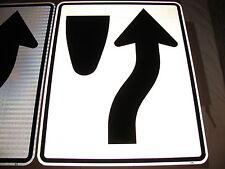 HUGE 24X30 KEEP RIGHT ENGINEER GRADE REFL AUTHENTIC DOT STREET TRAFFIC ROAD SIGN