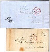 # 1846/51  2 x  EDINBURGH DUTY & TAX PRINTED CIRCULARS TO HANOVER STREET & KELSO