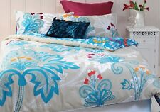 New MITRA Raised Chenille Embroidery Reversible QUEEN Size Quilt Doona Cover Set