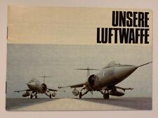 A Bundeswehr Unswere Luftwaffe Aircraft Vintage Brochure Aeronautical