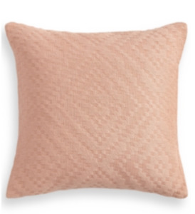 "Lucky Brand Diamante 100% Cotton 18"" x 18"" Decorative Pillow - Mauve"