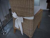 Stuhlkissen 40 x 40 x 4 cm Sitzkissen beige mit Schleife