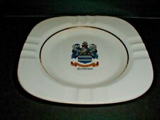 NICHOLSON Family Crest Coat of Arms & Motto Ceramic Square Ashtray (loc-12F)