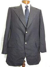 Vtg Mens 42R Austin Leeds Brown Striped Blazer Sport Coat Jacket EUC *Free Ship