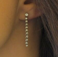 Flirty 1.0 ctw Diamond White Gold Fringe Earrings - 1.25 inch