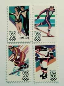 Set of 20 cent Winter Olympic Stamps (SC 2067-70) Mint
