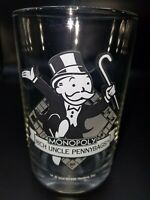 McDonalds 1997 Hasbro Monopoly Rich Uncle Pennybags Glass Tumbler 16 oz