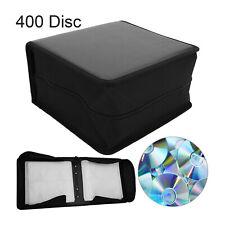 400 Disc CD DVD Organizer Holder Storage Case Bag Wallet Album Media Video Black